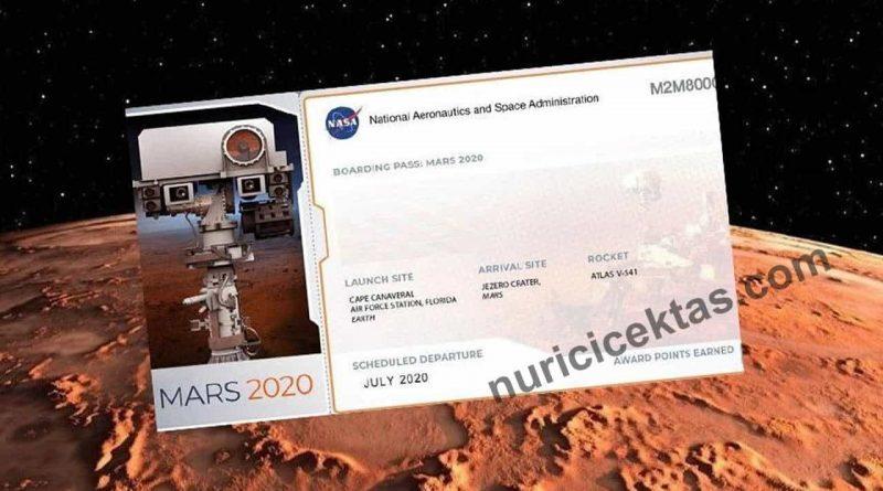 Nasa Mars Bileti Nasıl Alınır İsim Nasıl Yazdırılır ?